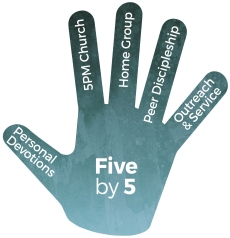 Trinity City 'Five by 5' Challenge - hand