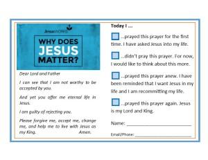 JesusWORKS Response Card